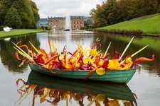 Sunset Boat by Dale Chihuly at Chatsworth
